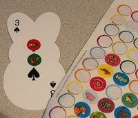 Make a counting book with playing cards- Math
