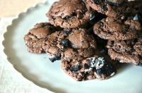 Double Chocolate Oreo Cookies: Delicious chocolate cookies with Oreos mixed in!