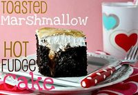 toasted marshmallow hot fudge cake!