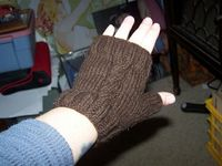 free knitting pattern for cabled fingerless mittens