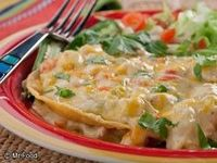 Tortilla chicken pot pie- ooh, so good!