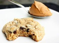 best cookie ever: peanut butter banana chocolate chip cookies