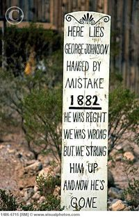 Boot Hill cemetary in Tombstone Arizona