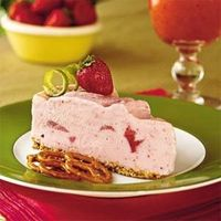 Spiked Strawberry-Lime Ice-cream pie.