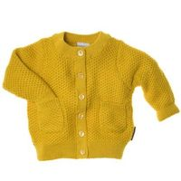mustard yellow cotton cardigan