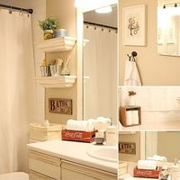 guest bathroom - shelves