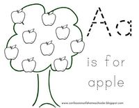 A is for apple.