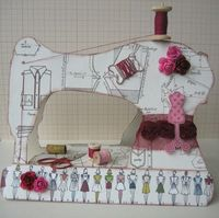 LOVE this paper sewing machine!