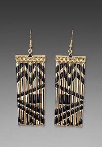 House of Harlow- Metal Fringe Earrings