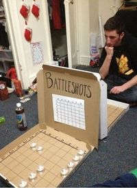 This drinking game is GENIUS. College thinking at its finest.