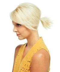 Ponytail idea for my short hair now.