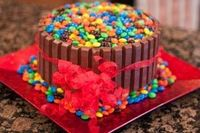 Chocolate cake, M&Ms;, Kit-kats and Ice-cream ---- Is there a better cake in the world?