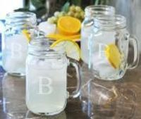 Monogram Drinking Jars