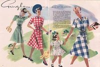 vintage gingham illustration fr. Everywoman, Aug. 1943