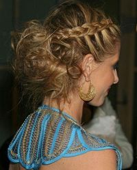 Braid with Messy Bun