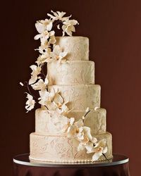 orchid tier cake
