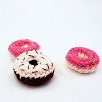 Crocheted mini donuts :)