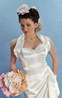 Fifties inspired wedding dress!