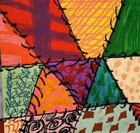 Crazy quilt art lesson