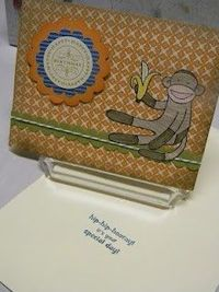 Stampin Up Sock Monkey Birthday - for Andrea