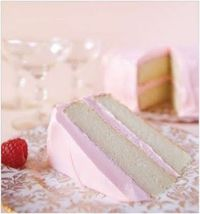 Pink champagne cake. I made this for 2010 New Year's Eve and covered it will silver dragees.