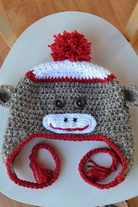 Sock Monkey hat pattern (crochet)