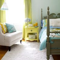 mint green and yellow...color inspiration for my living room