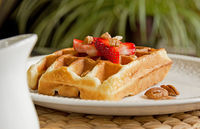 Banana Buttermilk Waffles With Strawberries: A delicious waffle recipe that uses banana and buttermilk in place of oil or butter. Top with fresh...[read more at Food Frenzy]