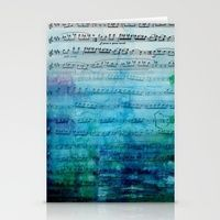 Blue Mood Music art card by Catherine Holcombe