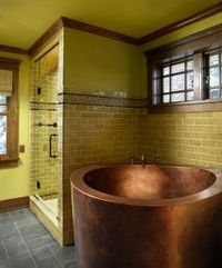 Copper Japanese soaker tub - yes, please!